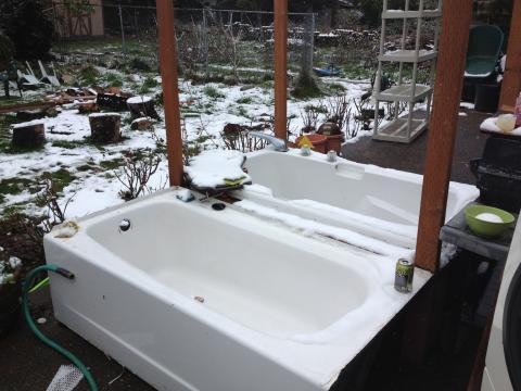 baignoires extérieures